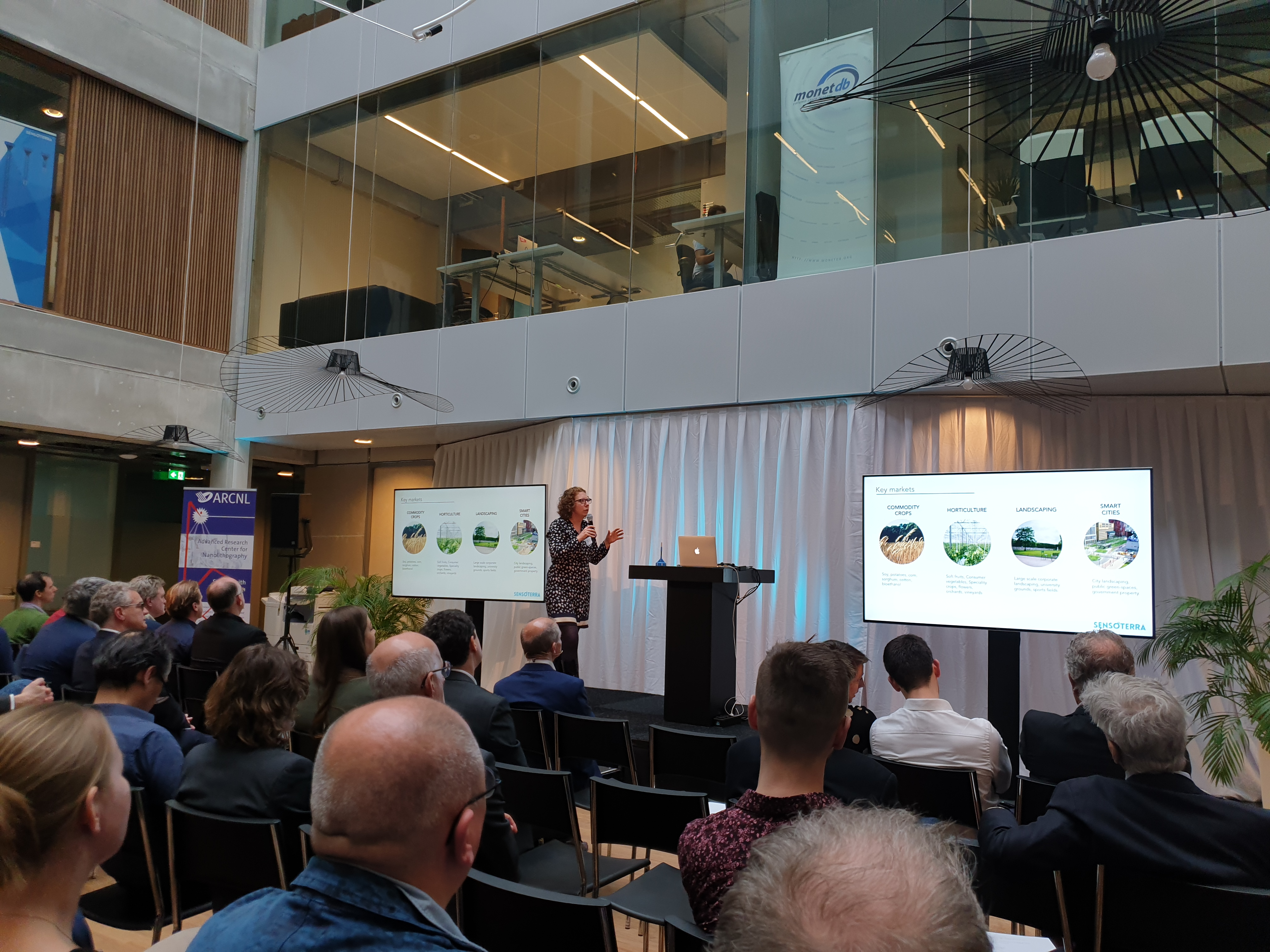 Introducing Sensoterra at the Matrix VII official opening, Science Park - Amsterdam